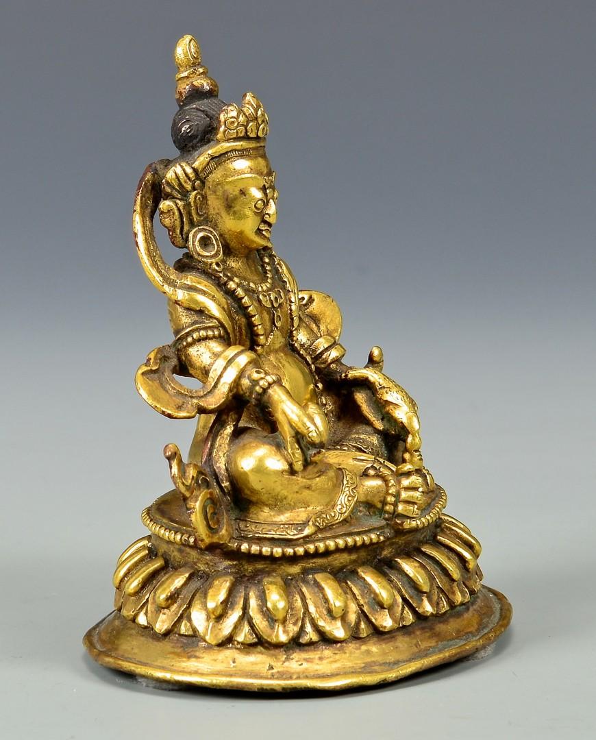Lot 3: Gilt Bronze Sculpture, Jambala