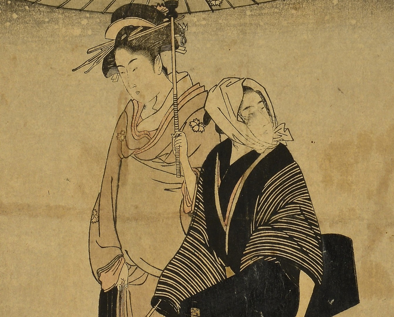 Lot 401: 2 Japanese Woodblock Prints