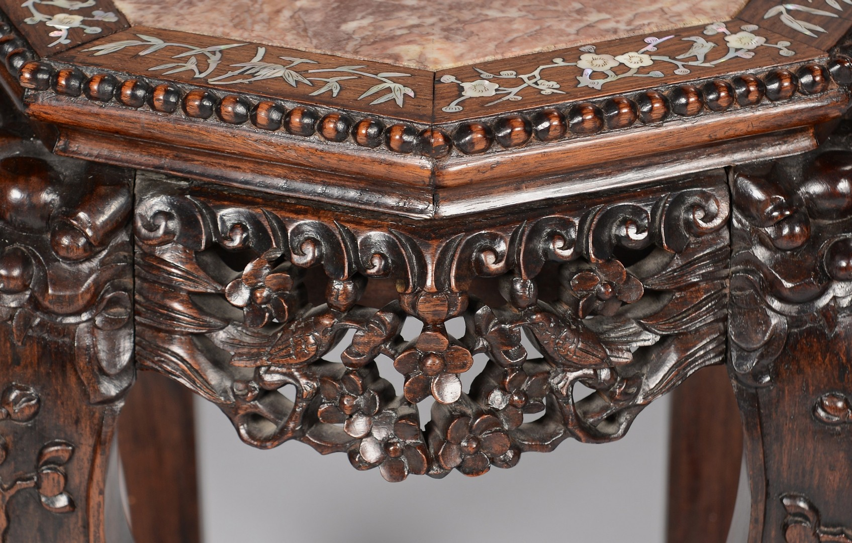 Lot 404: Chinese Carved Octagonal Table