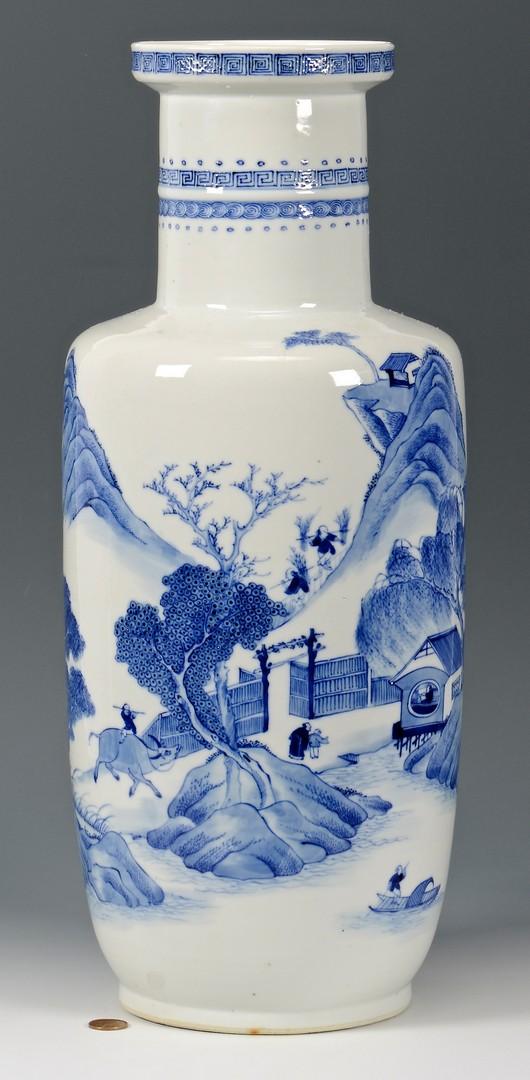 Lot 408: Chinese Blue and White Kangxi style Vase