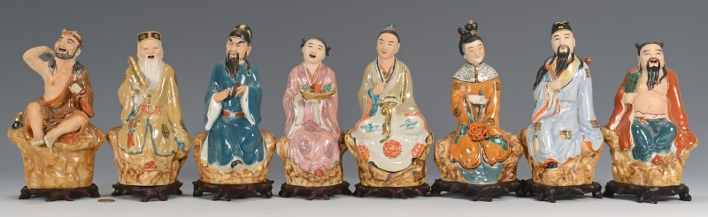 Lot 410: 8 Daoist Immortal Figures
