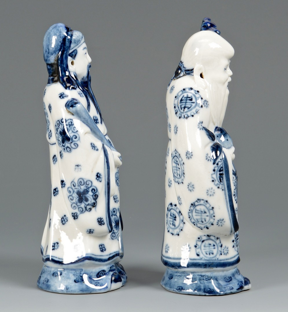 Lot 411: 4 Chinese Figural Porcelain Items