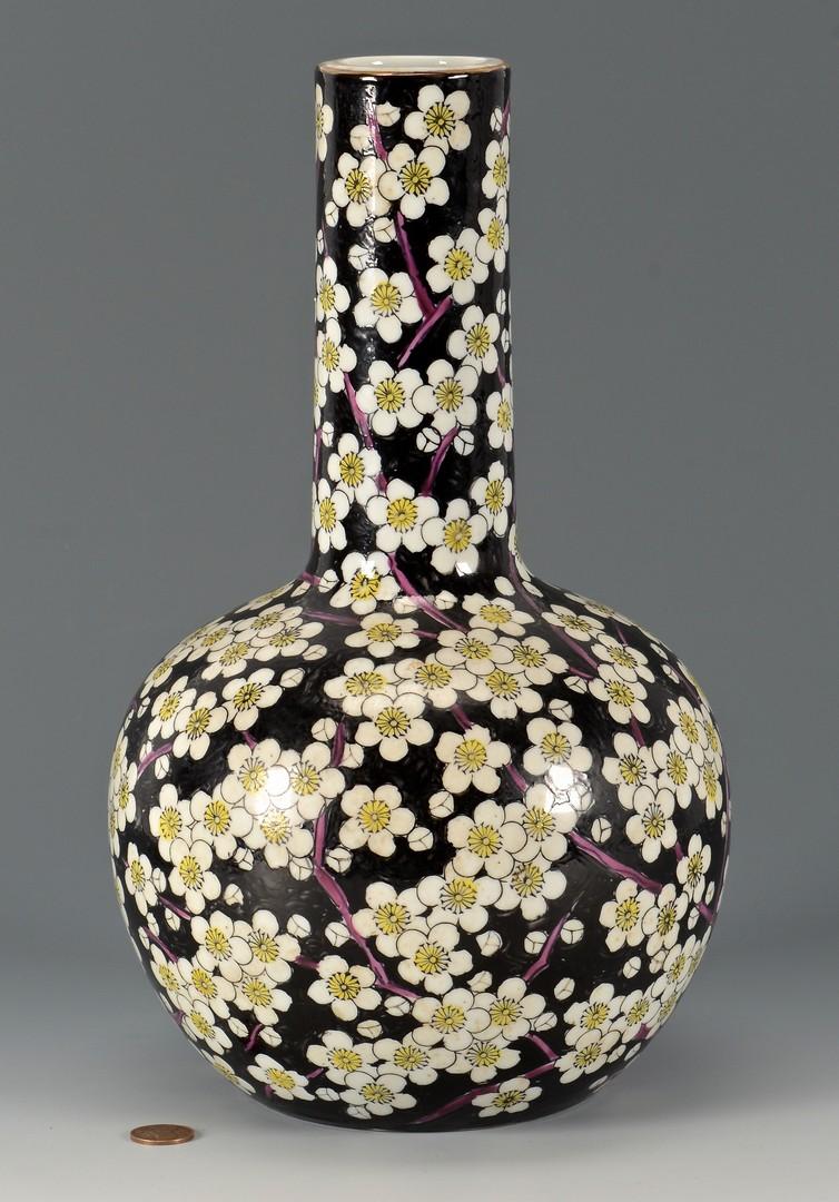 Lot 413: Blanc De Chine Jar and Famille Noir Vase