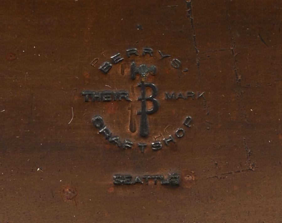 Lot 416: Pr. Albert Berry Arts & Crafts Copper Bookends