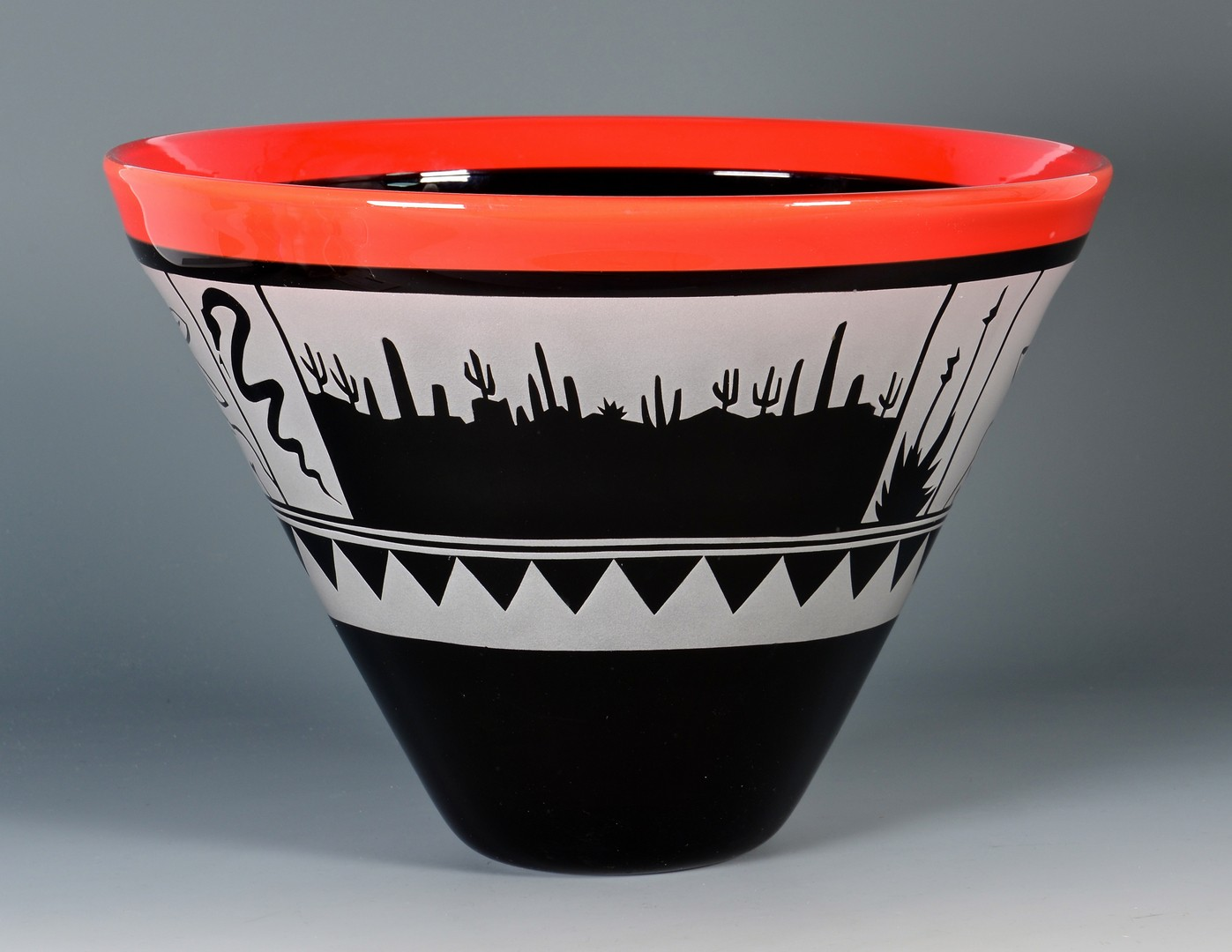 Lot 418: Michael Joplin Art Glass Bowl