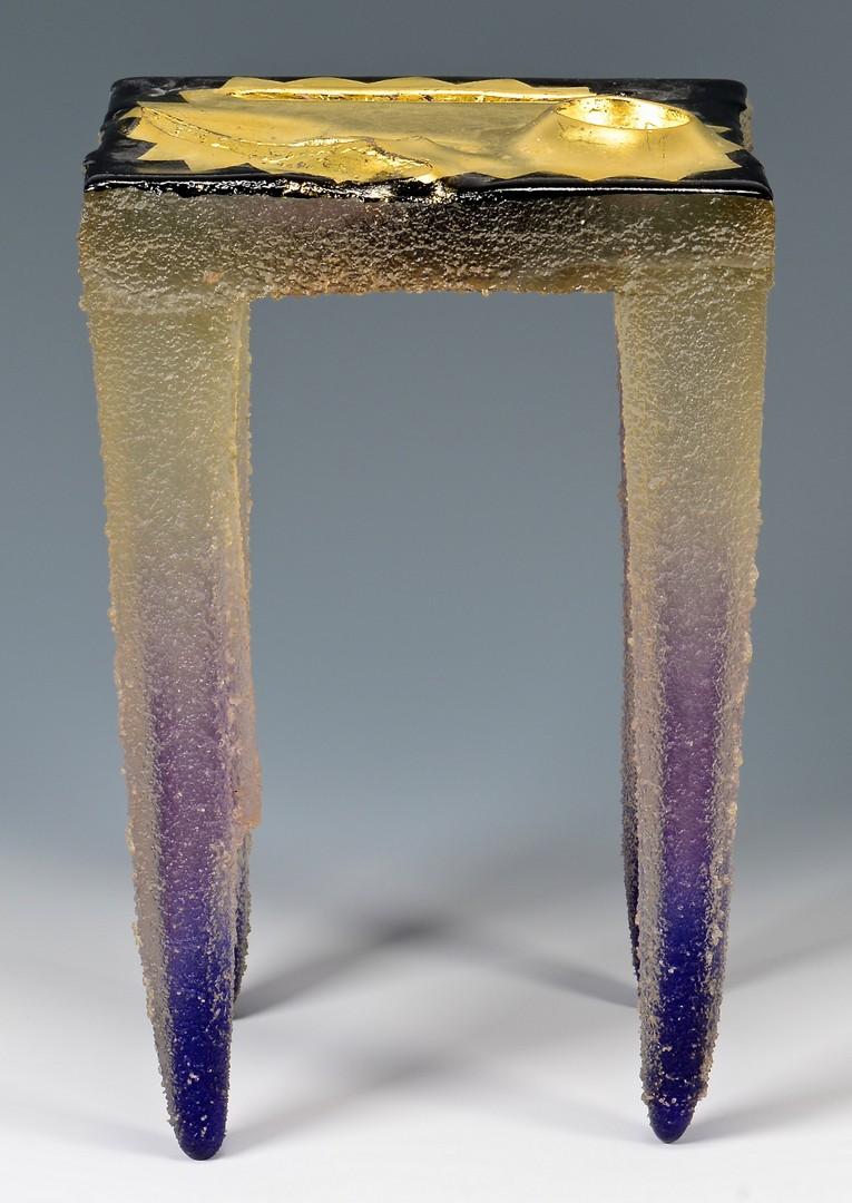 "Lot 420: Jose Chardiet table sculpture ""Totem"" 1990"