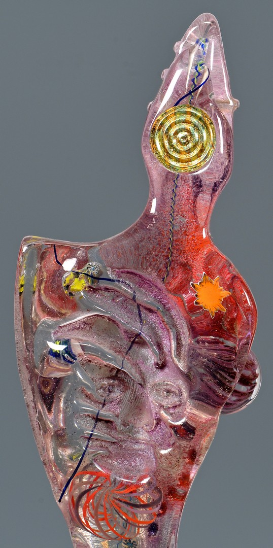 Lot 424: Susan Gott Glass Figurative Sculpture, Shaman III