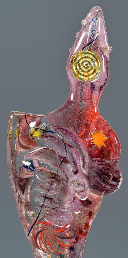 Lot 424: Susan Gott Glass Figurative Sculpture, Shaman III