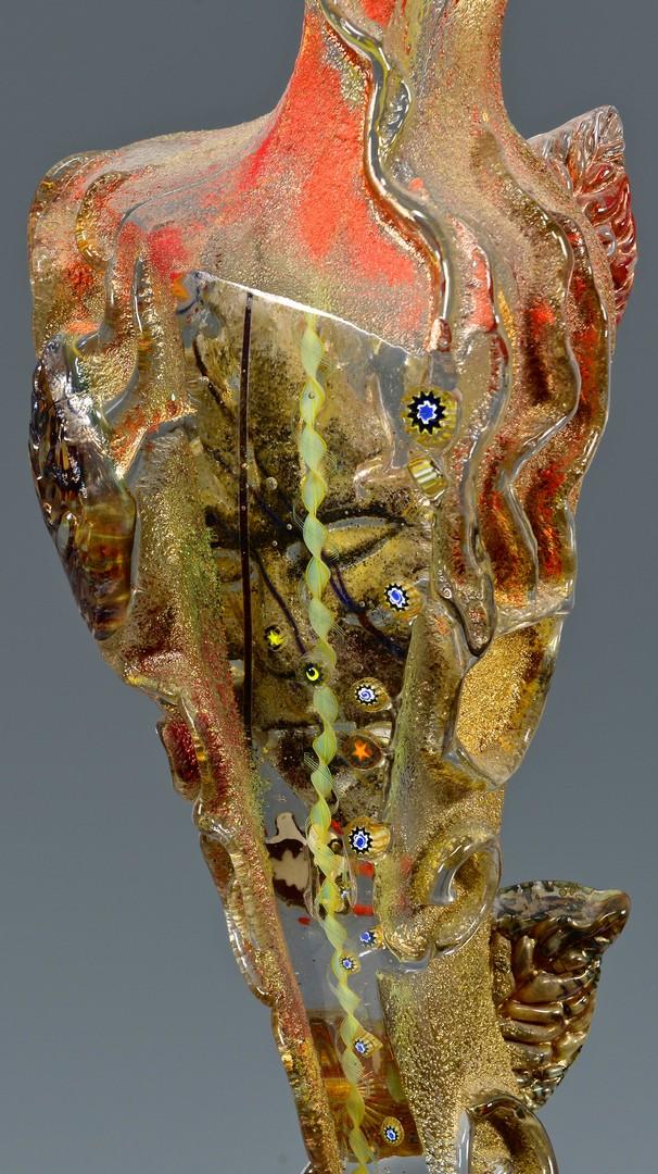Lot 425: Susan Gott glass female totem
