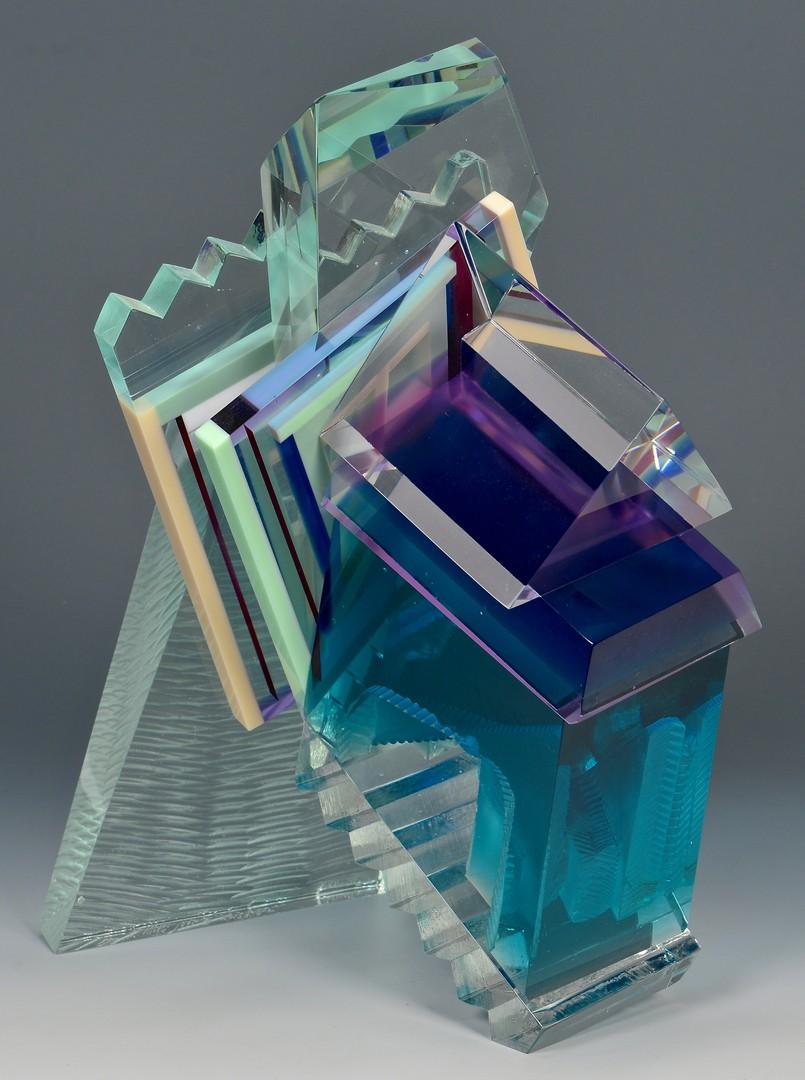 Lot 426: Jon M. Wolfe Glass Sculpture