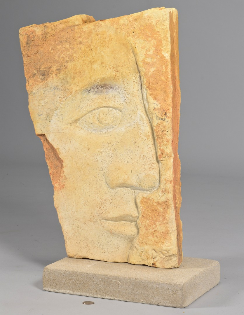 Lot 431: David Day, Large Stone Face Sculpture