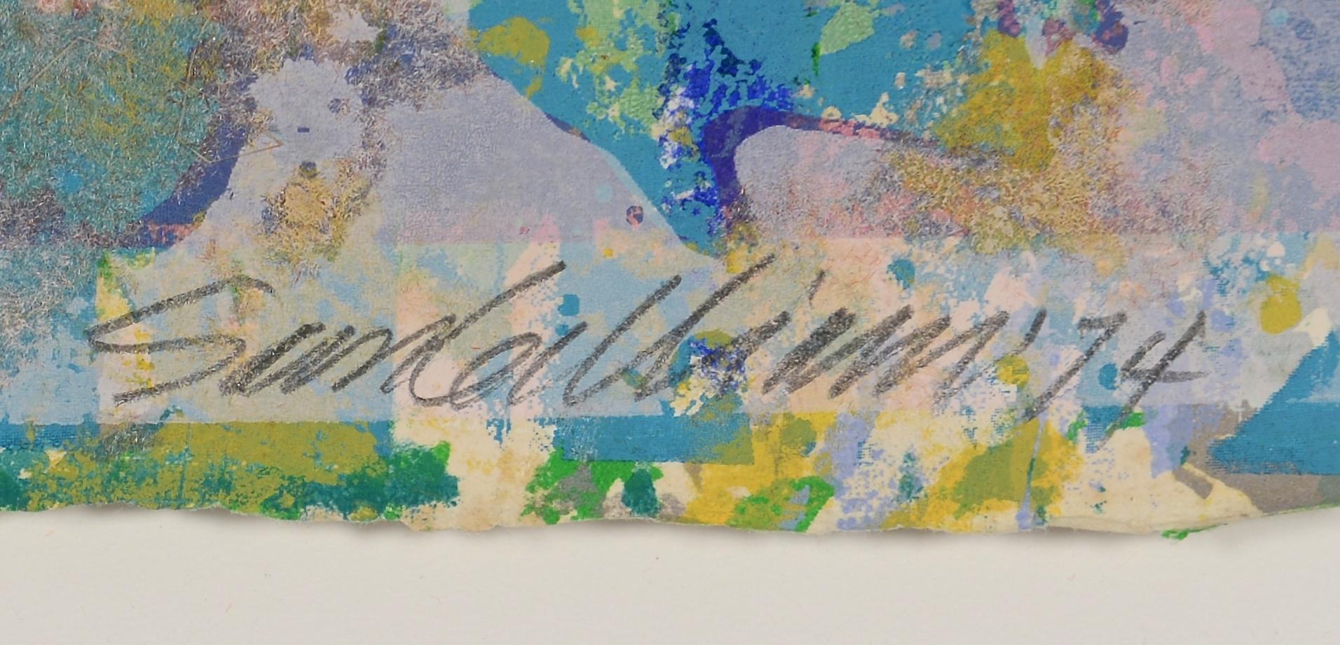 Lot 436: Sam Gilliam Monotype, Cape