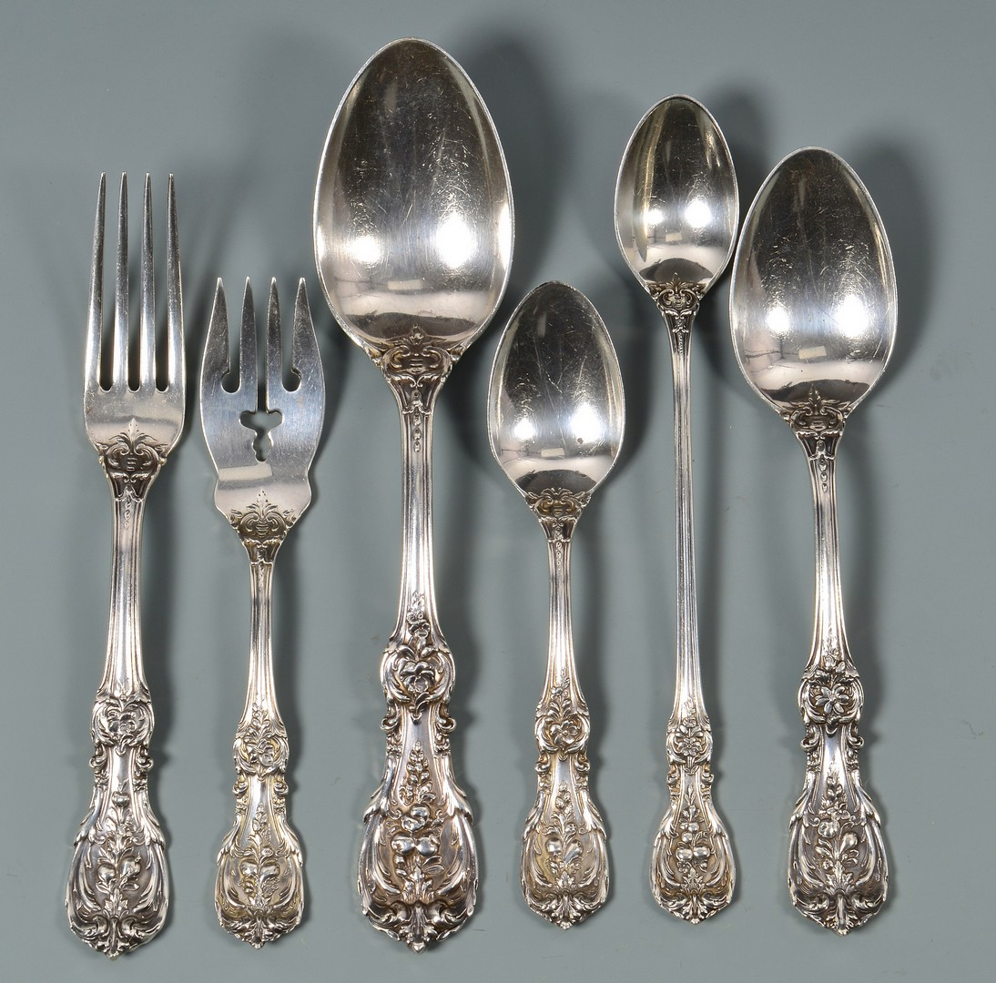 Lot 43: Reed & Barton Francis I Sterling Flatware, 68 pcs.