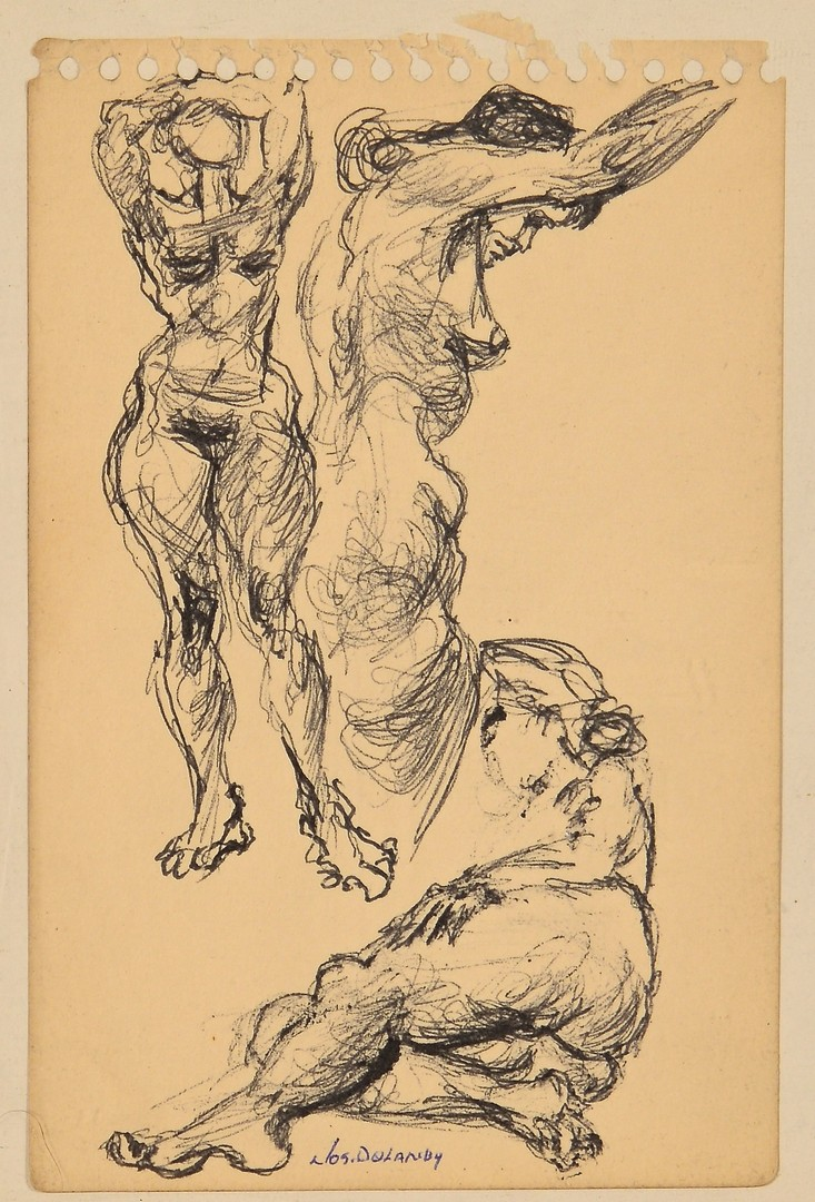 Lot 441: 3 TN Joseph Delaney Nude Drawings