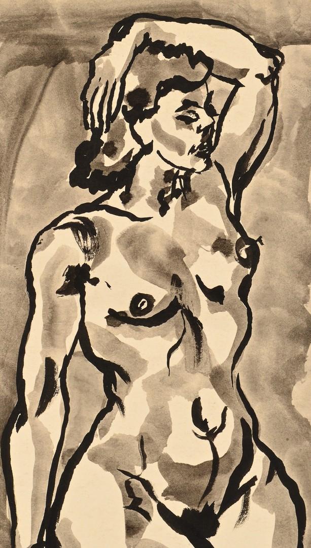 Lot 441: 3 TN Joseph Delaney Nude Drawings