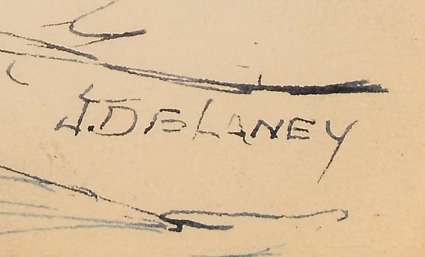 Lot 443: 5 TN Joseph Delaney Drawings
