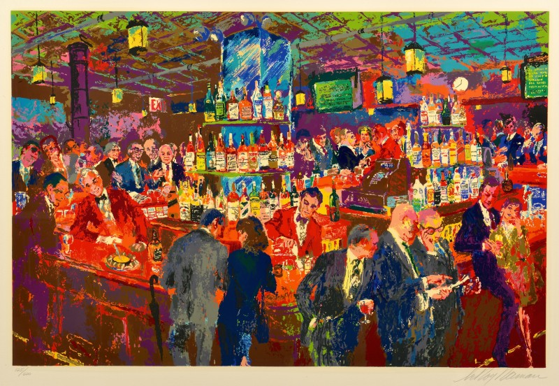 Lot 445: Leroy Neiman Signed Serigraph, Harry's Bar