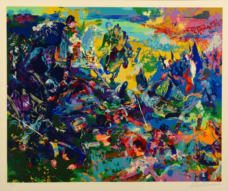 Lot 446: Leroy Neiman Signed Serigraph, Napoleon at Waterlo
