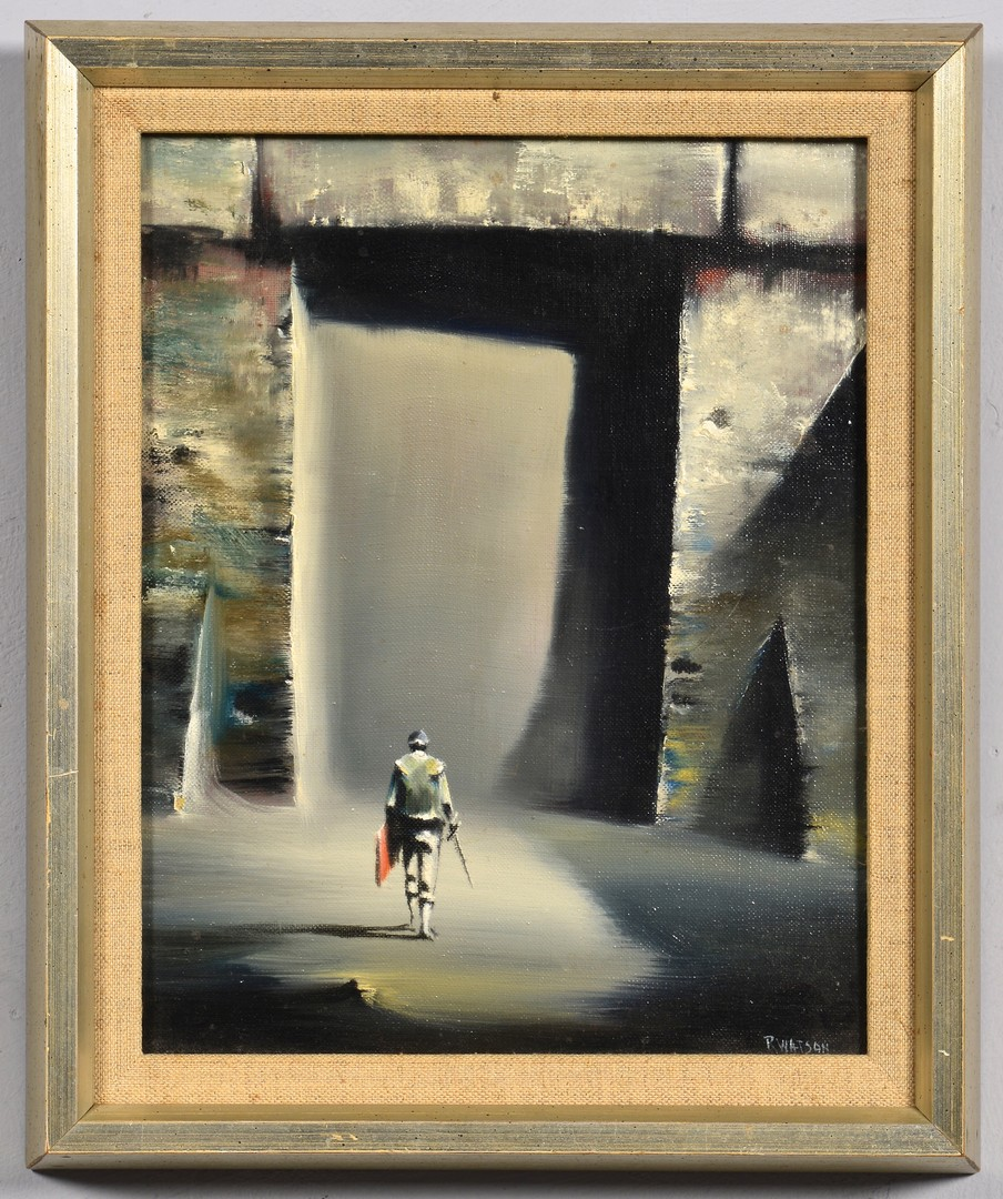 Lot 448: Robert Watson oil on canvas, Matador