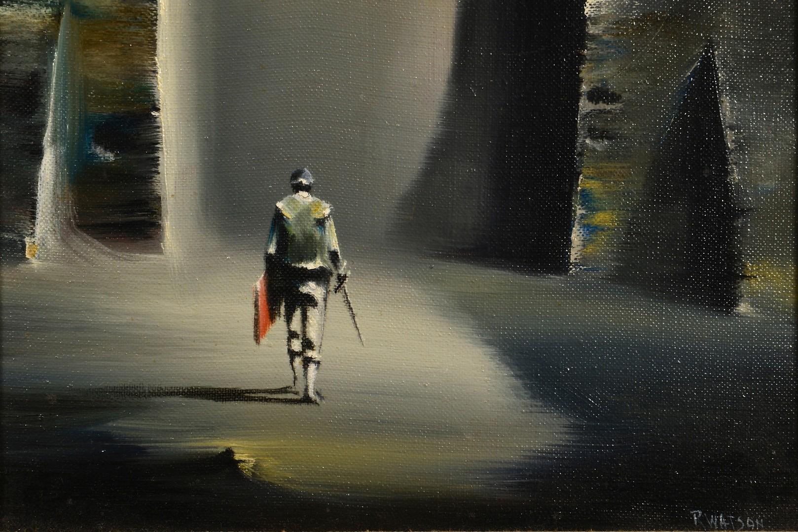 Lot 448: Robert Watson oil on canvas, Matador
