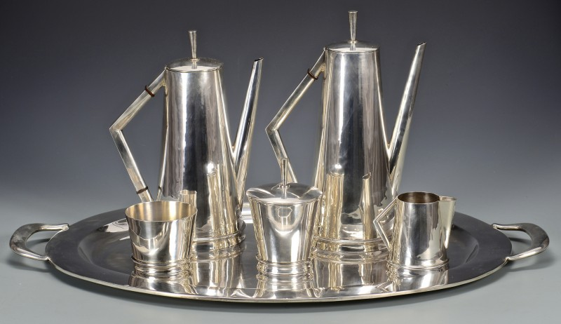 Lot 44: Modernist Sterling Service w/ Tray