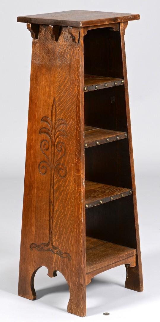 Lot 453: Stickley Magazine Stand, Tree of Life Design