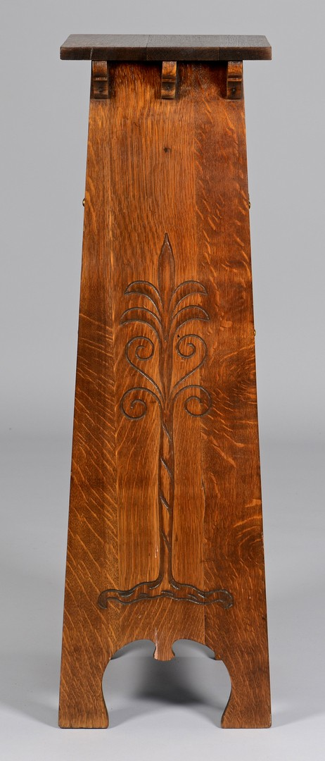 Lot 453: Stickley Magazine Stand, Tree of Life Design