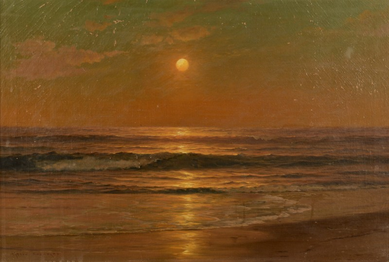 Lot 458: Warren Sheppard Oil on Canvas Seascape