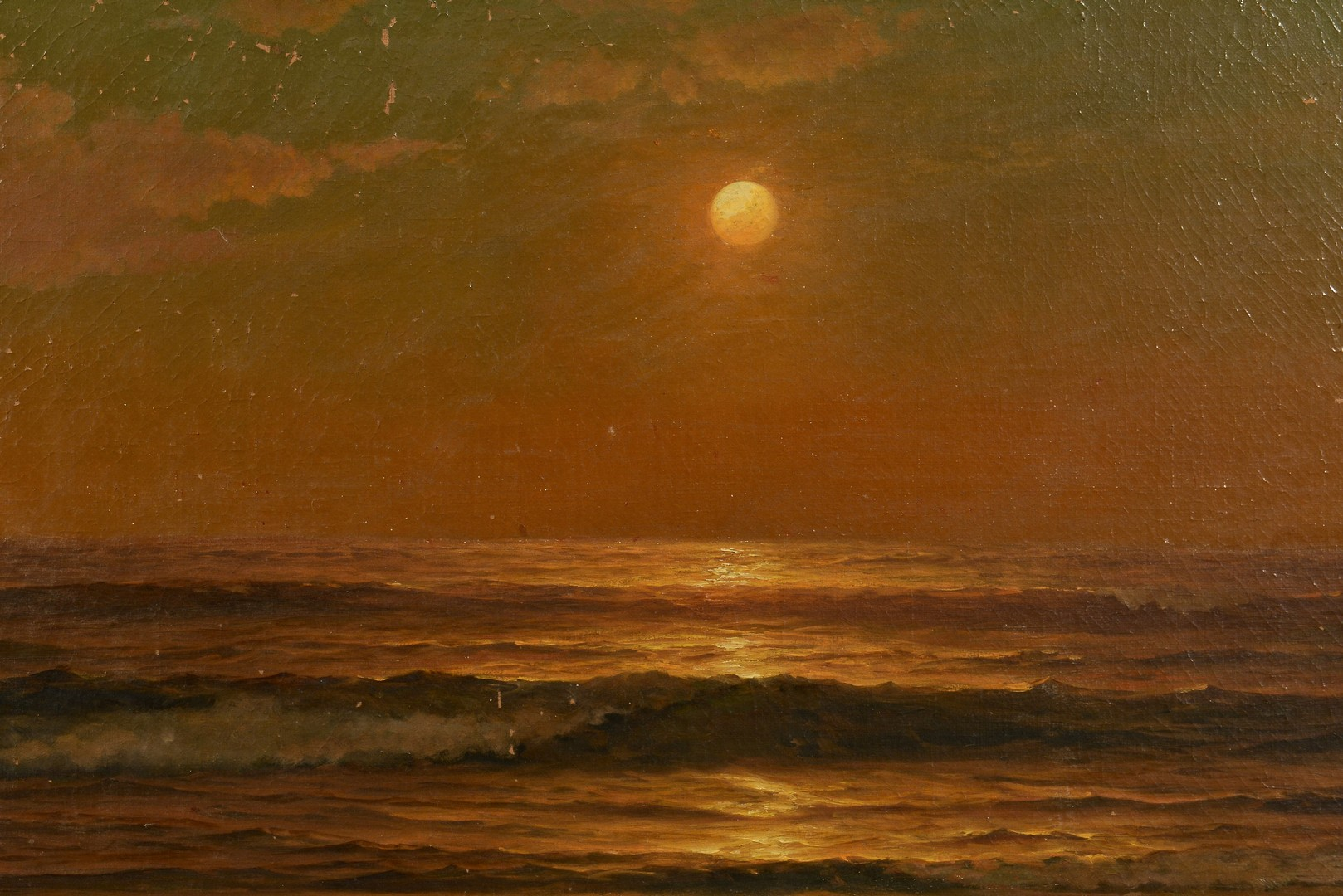 Lot 458: Warren Sheppard Oil on Canvas Seascape