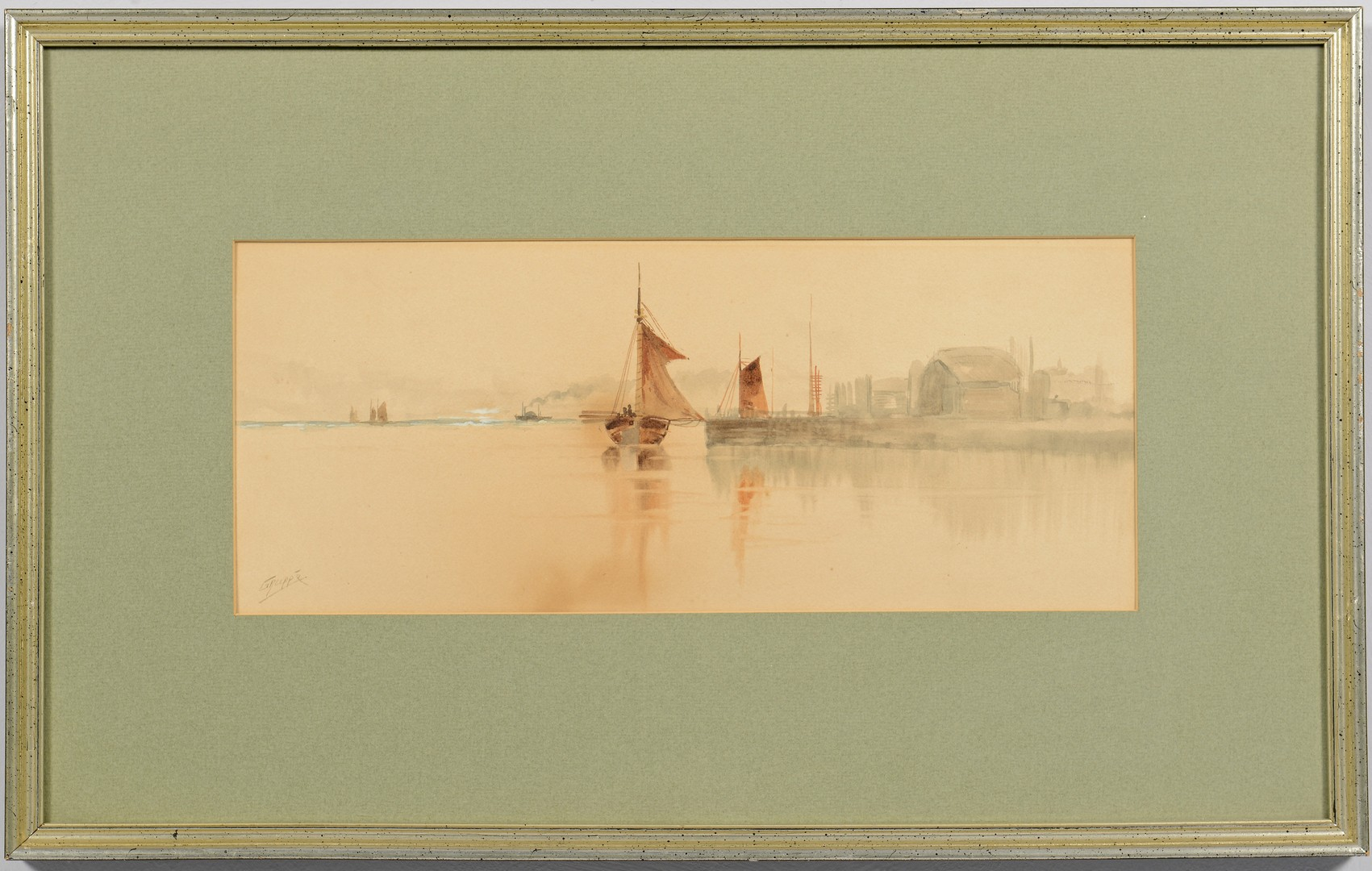 Lot 460: 2 Watercolor Seascapes inc. Gruppe