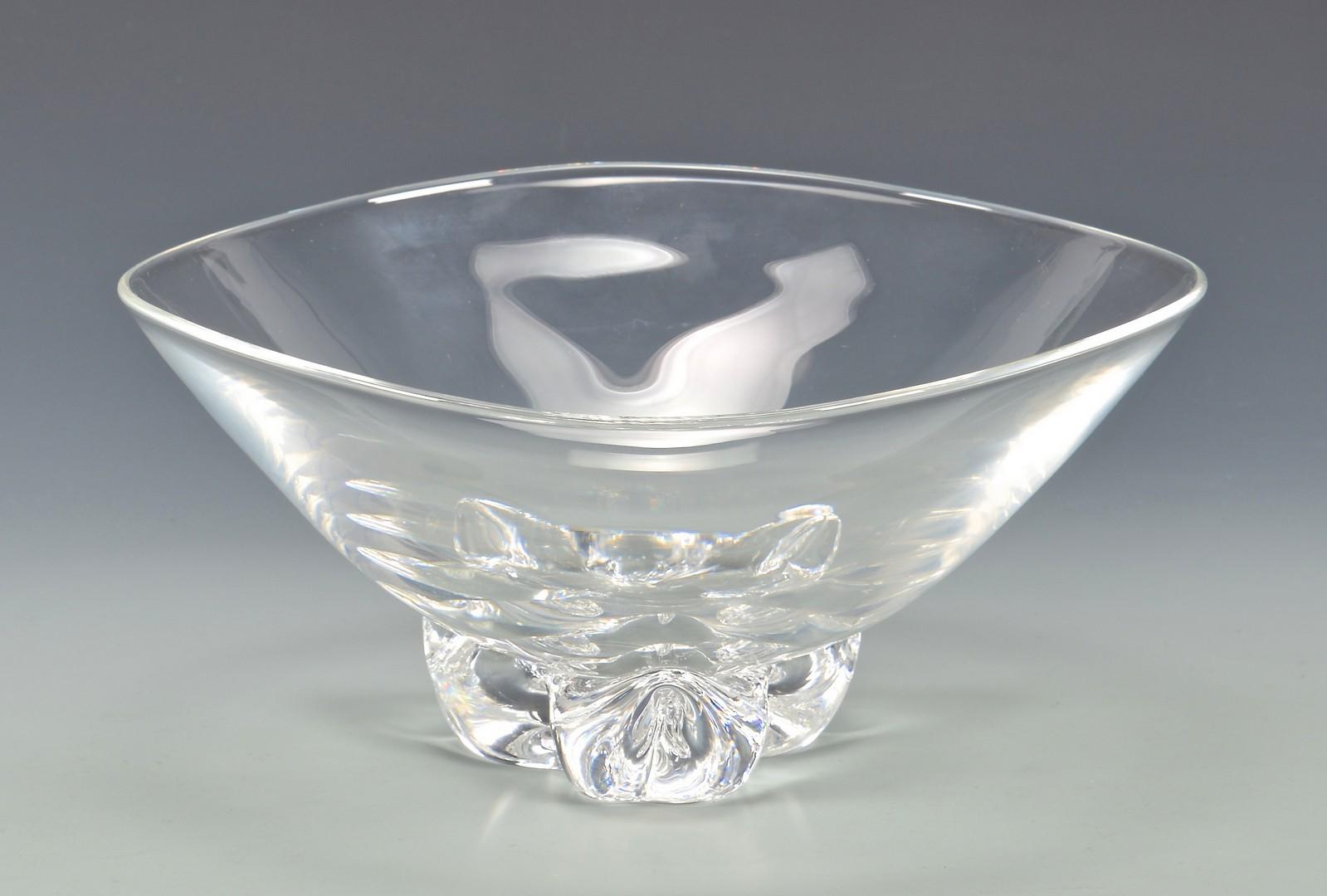 Lot 469: Steuben Trillium Bowl, Candlesticks
