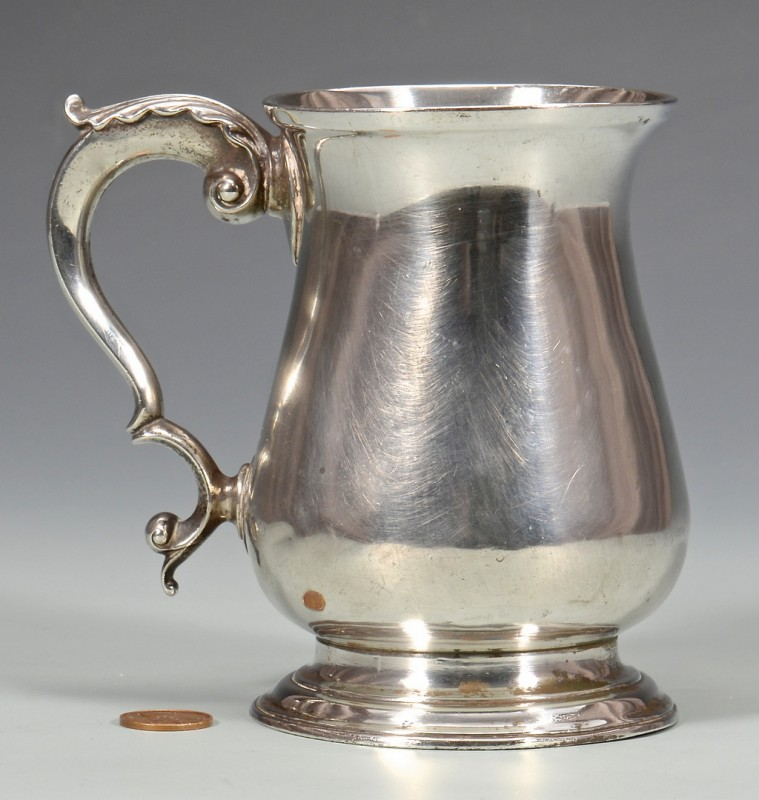 Lot 46: Georgian Sterling Silver Cann, circa 1770