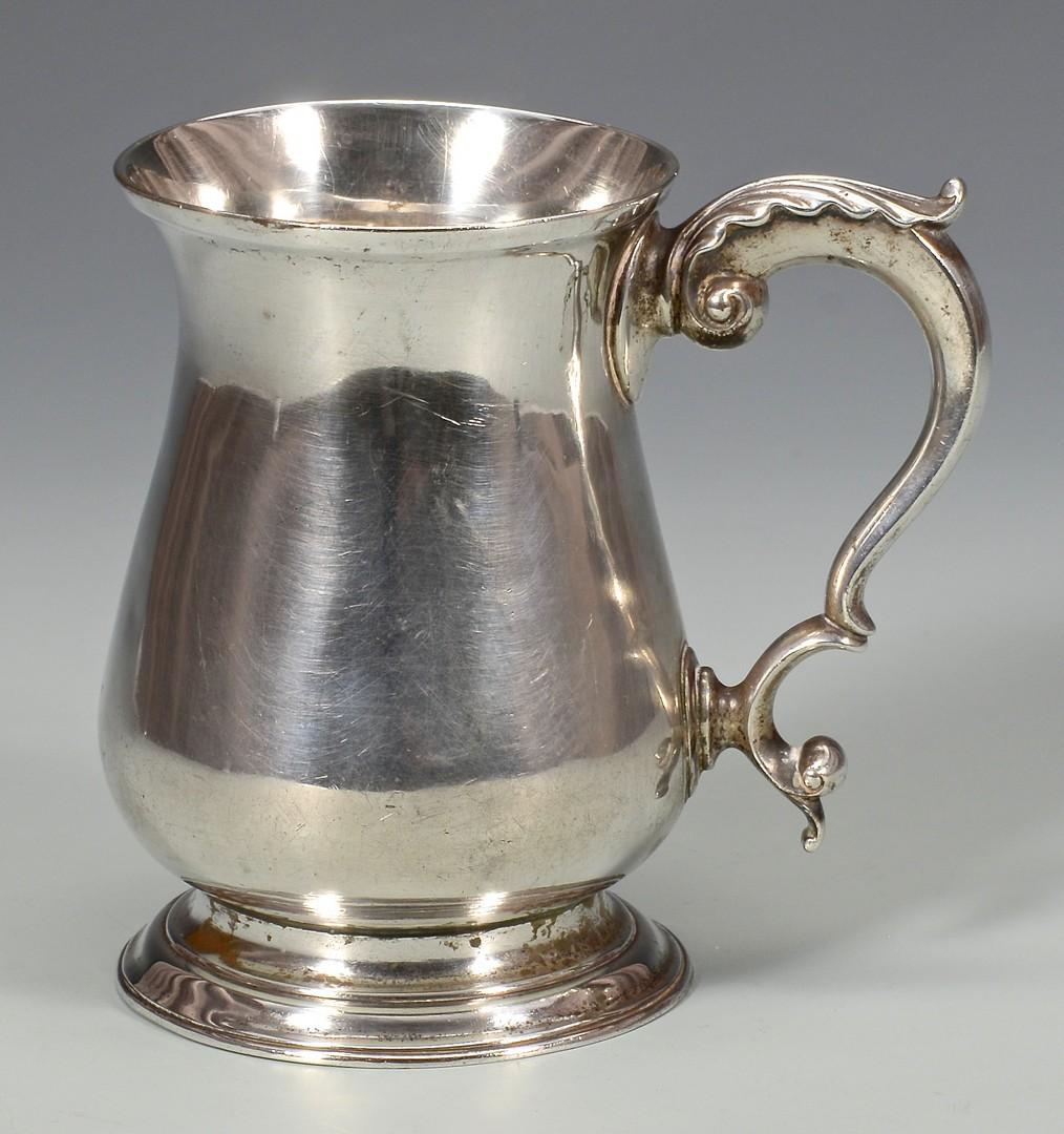 Lot 46: Georgian Sterling Silver Cann, circa 1770