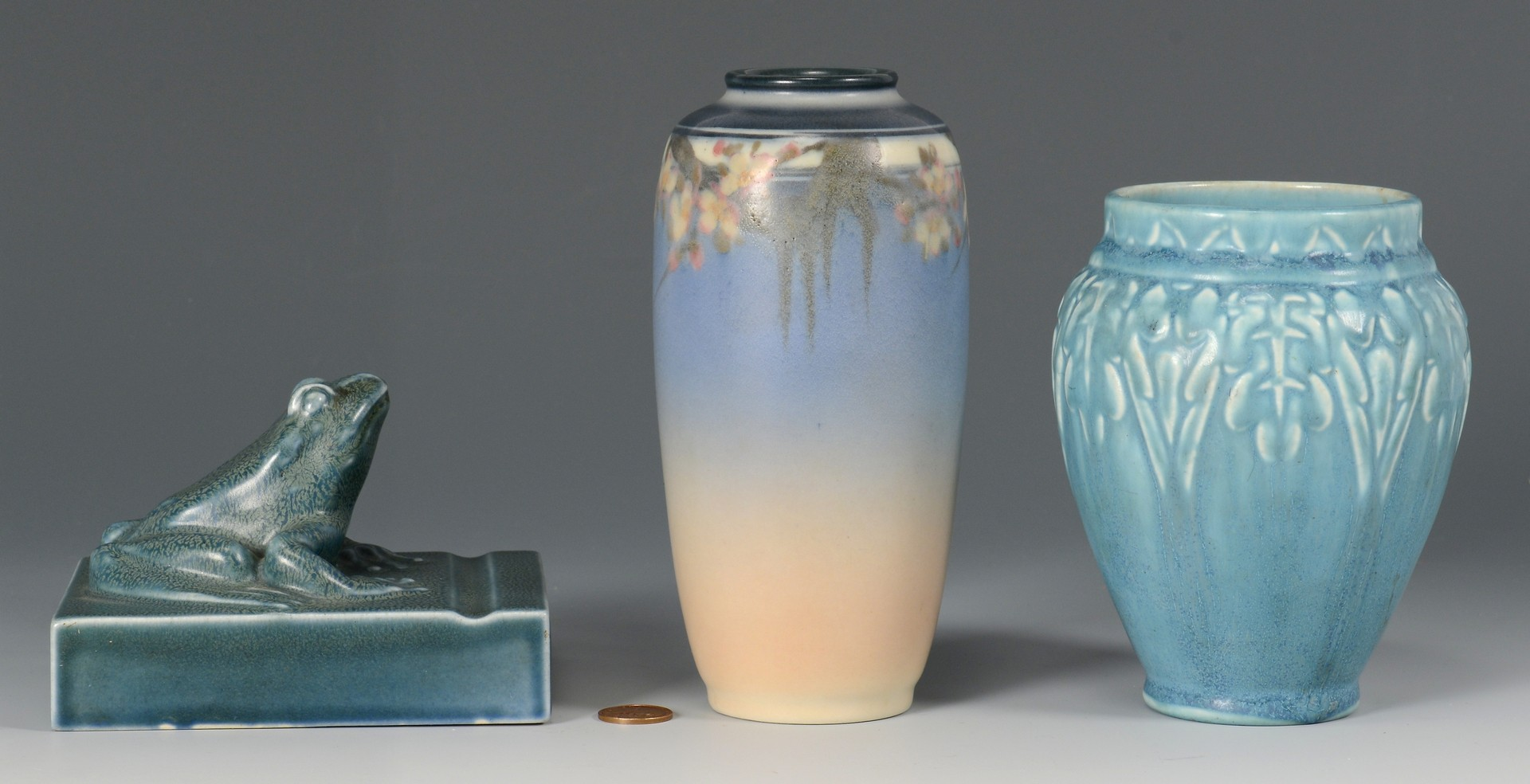 Lot 474: 3 Rookwood Pottery Items