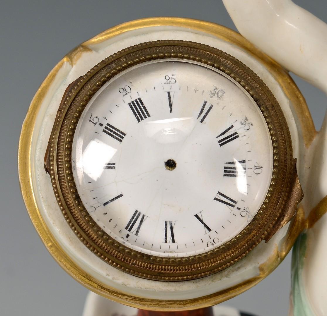Lot 477: KPM Porcelain Figural Clock