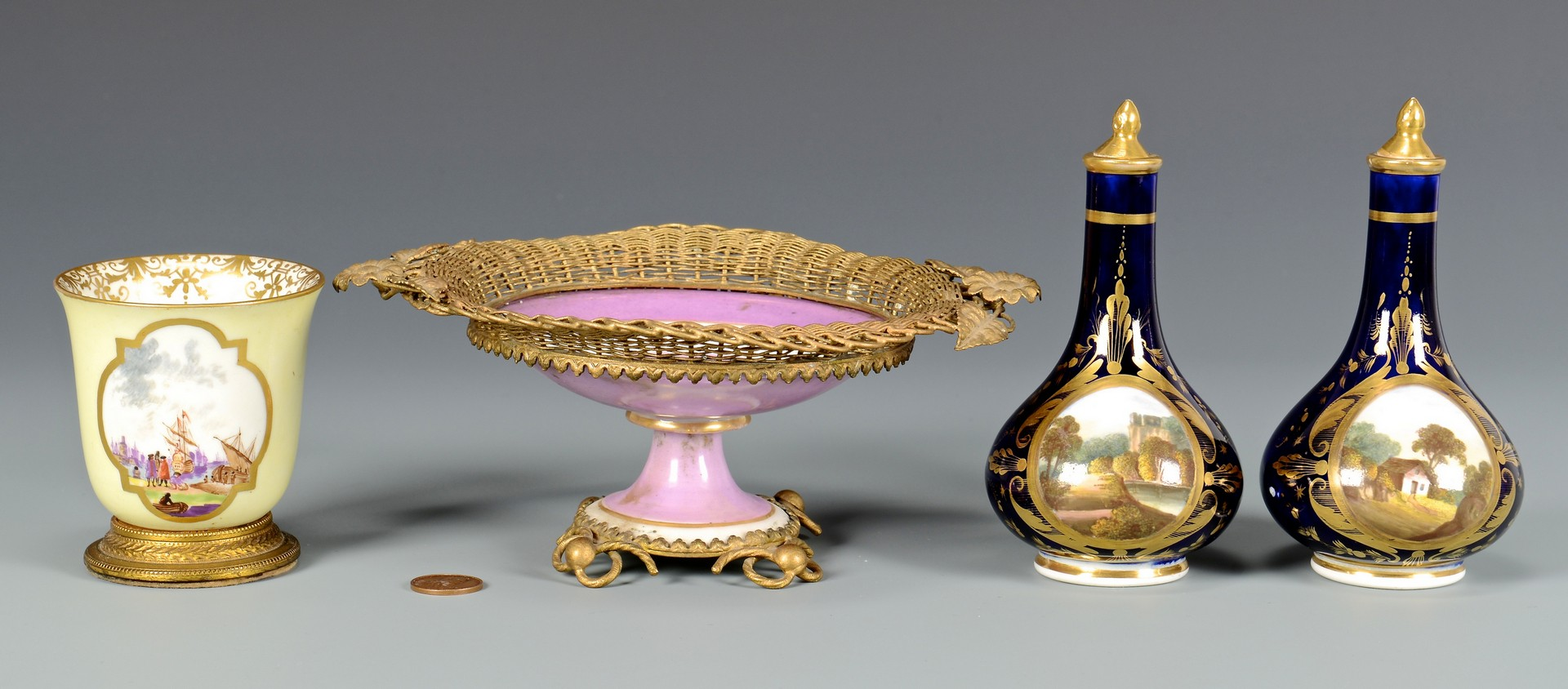 Lot 478: 4 pcs Continental Porcelain