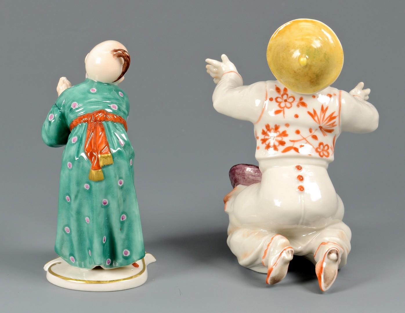 Lot 479: 2 Porcelain Chinoiserie Figures, German