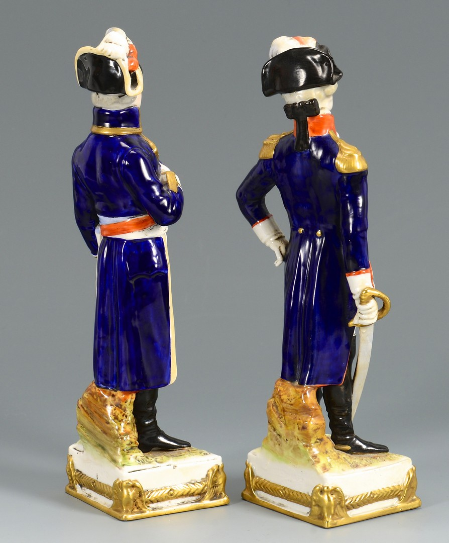 Lot 481: Napoleon portrait, 2 soldier figures and stein