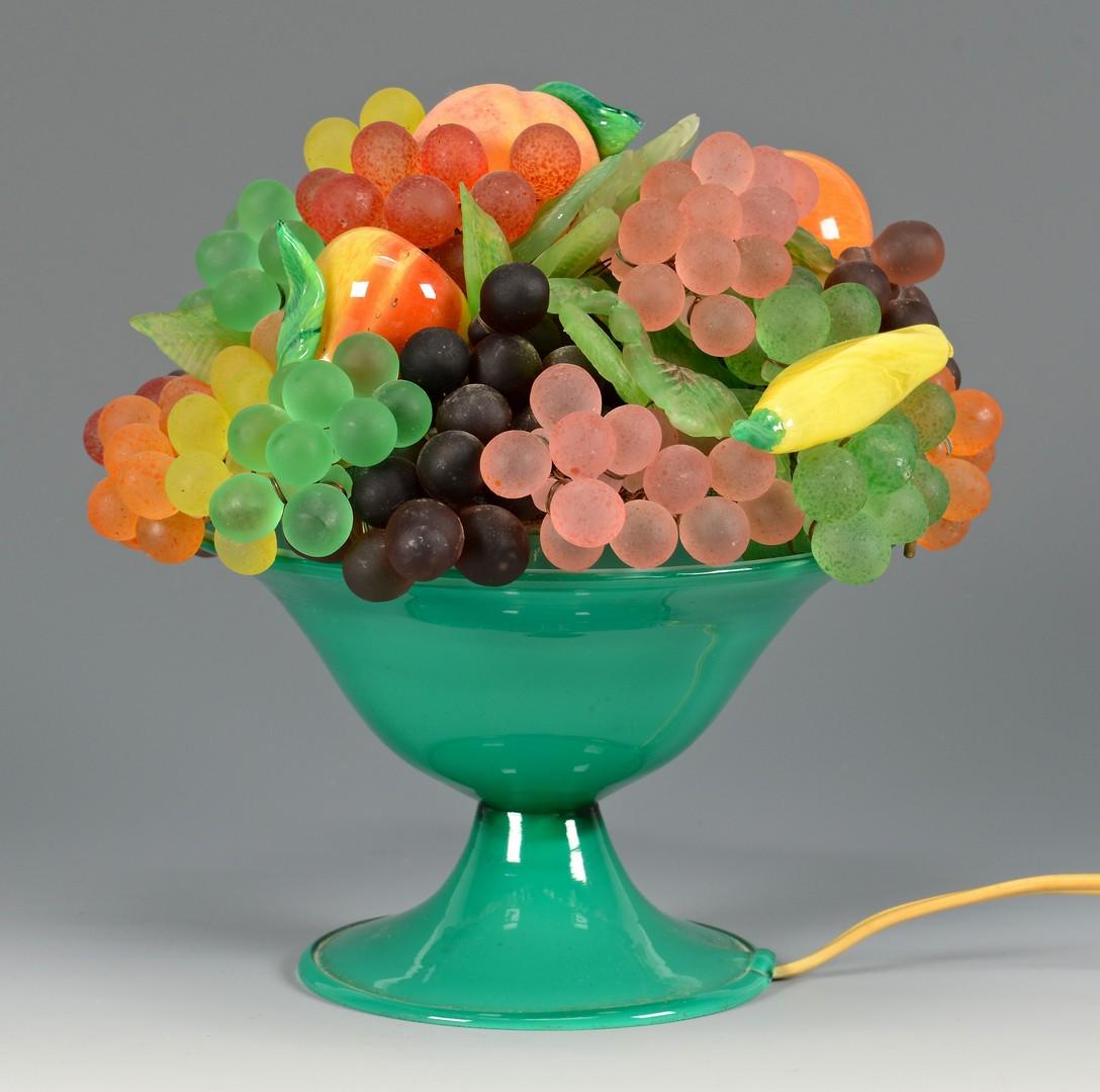 Lot 488: Vintage Glass Fruit lamp