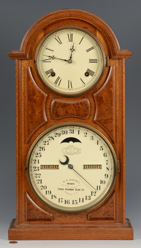 Lot 490: Ithaca Calendar Clock