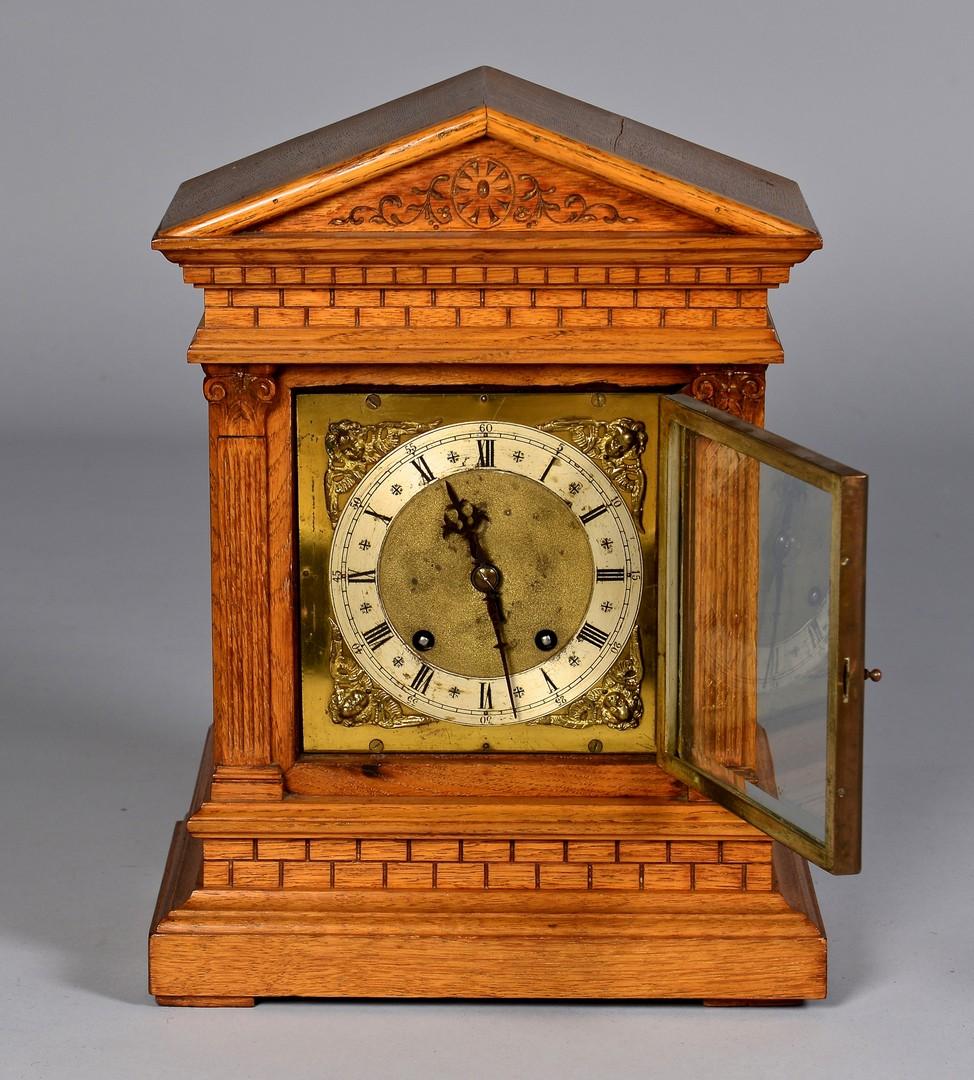 Lot 491: Pair of Clocks, W & H Oak Cased & Imperial
