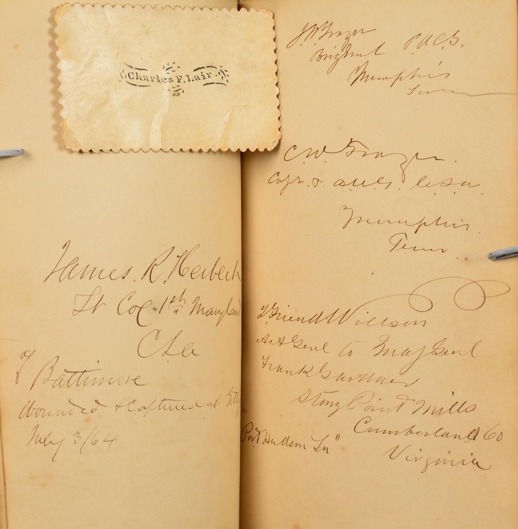 Lot 495: Confederate POW Album, 187 CSA Officers