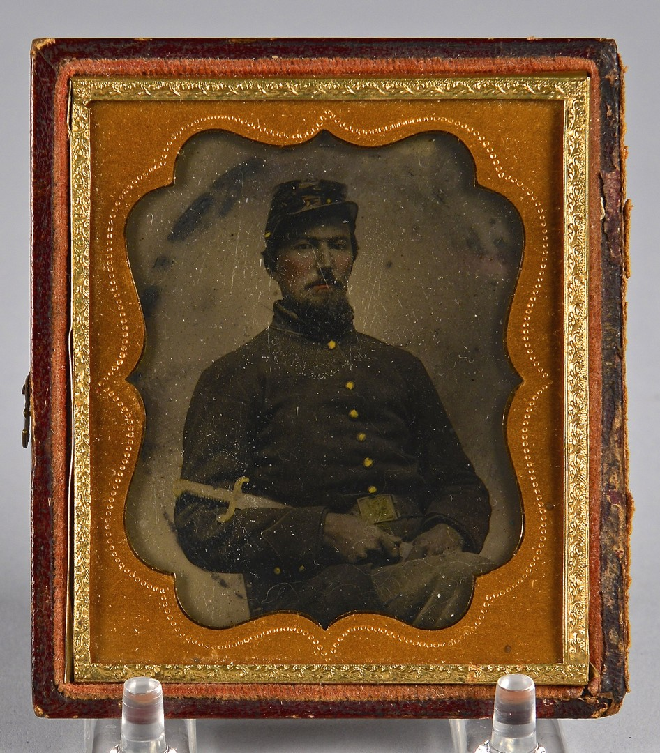 Lot 497: Civil War Archive Sgt. Robert Henry, Tintype & Doc