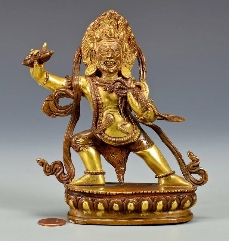 Lot 4: Gilt Bronze Sculpture, Vajrapani
