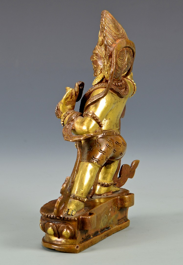 Lot 4: Gilt Bronze Sculpture, Vajrapani