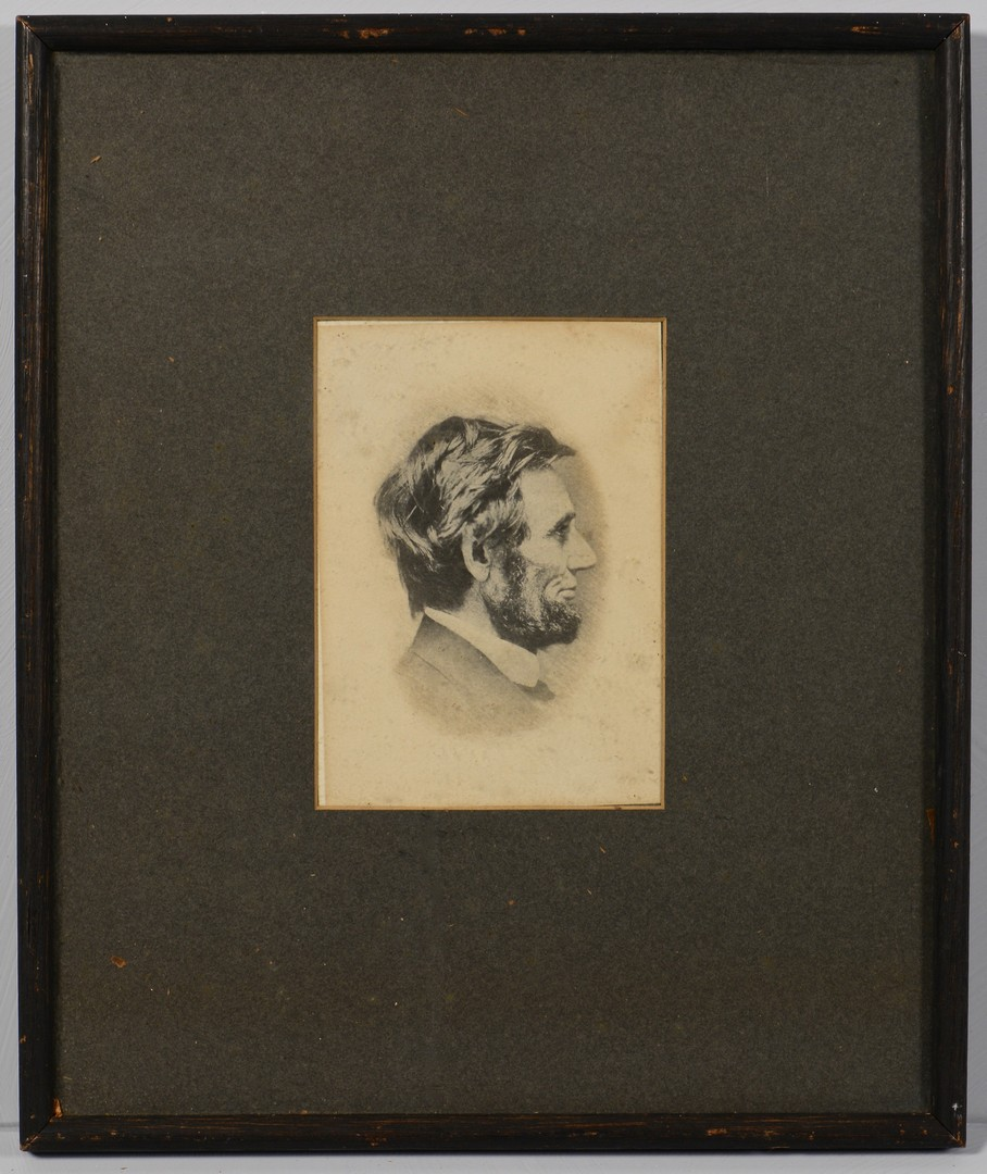 Lot 504: Photographic Print of Lincoln, C.S. German