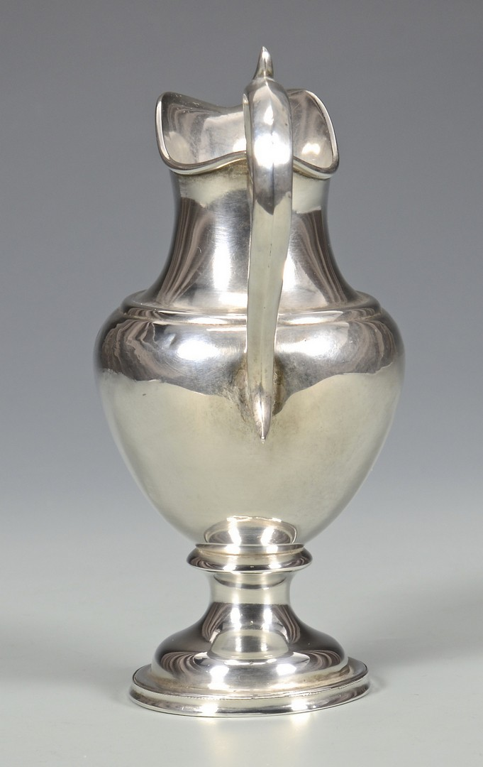 Lot 50: Medallion Cup and Jaccard Creamer, coin silver