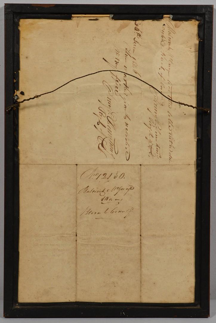 Lot 510: TN Gov. Carroll Signed Document & Silhouette, poss