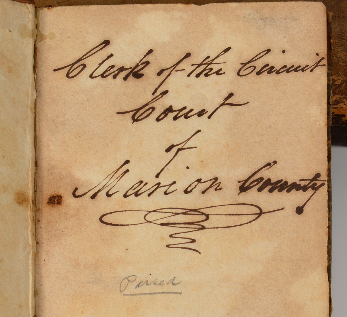 Lot 511: 3 Early TN Legal Books and document