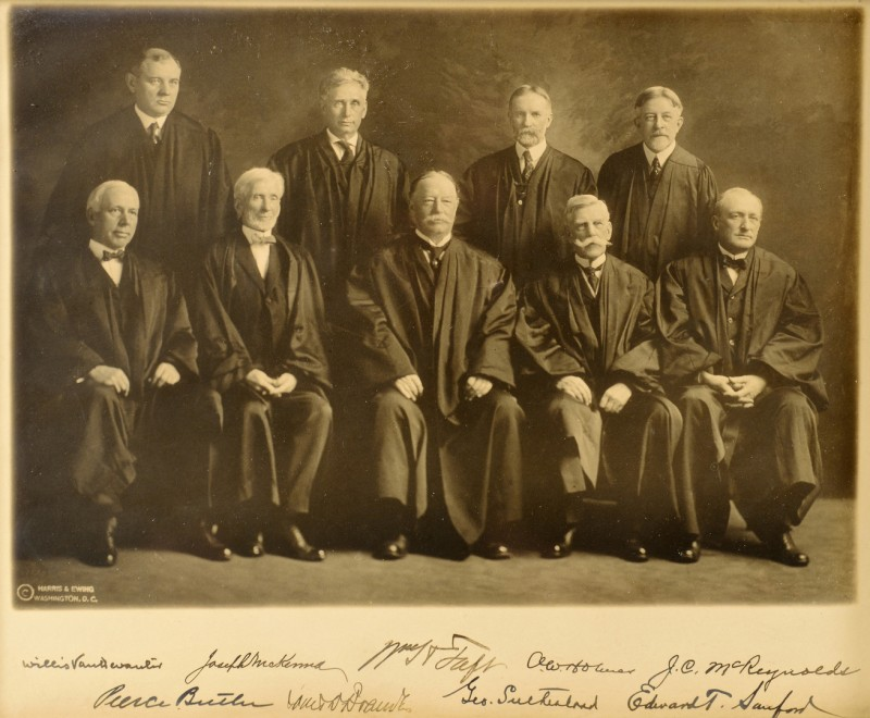 Lot 513: Taft Supreme Court Photograph, signed